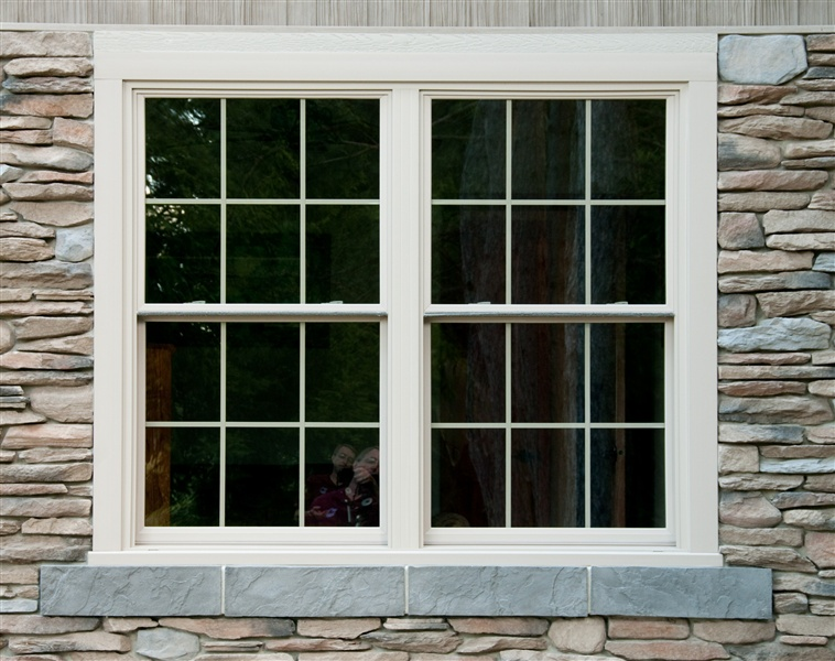 Palladium Stone Around Window : Egress window stonecraft insulation gutters