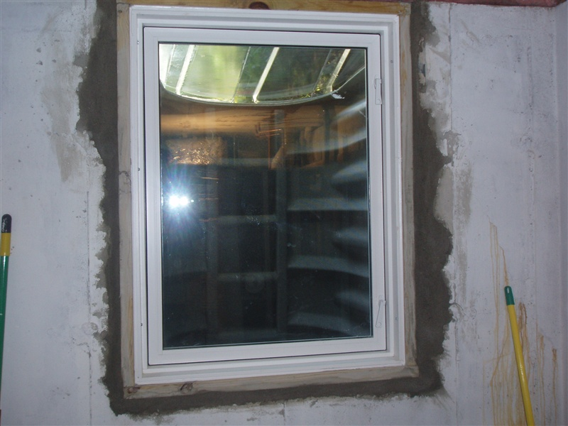 Egress Window Stonecraft Insulation Gutters