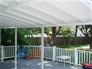 framing view and rail of awning