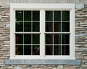Stone Siding around twin window unit